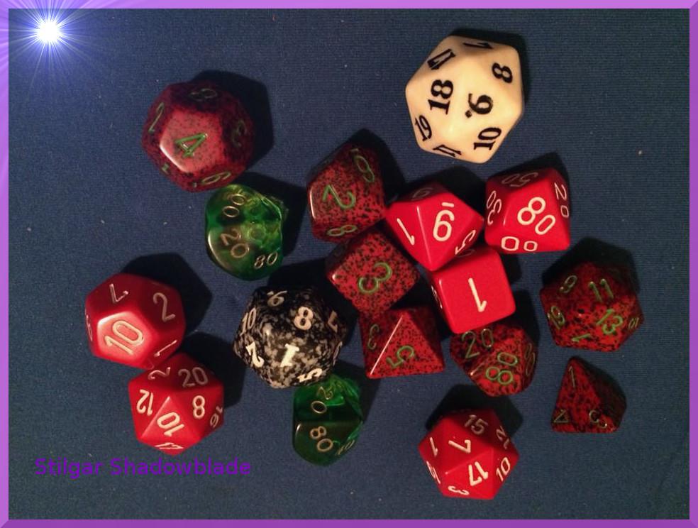 Stilgar Shadowblade's dice